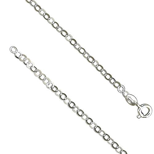 18 inch Light Flat Round Trace Chain