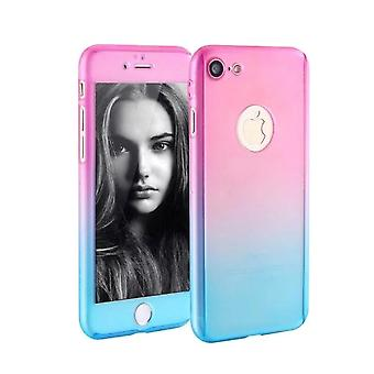 Apple iPhone 8 plus cell phone case protective case cover tank protection glass pink / blue