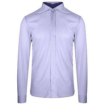 CC Collection Corneliani Corneliani Blue Long Sleeve Spread Collar Shirt