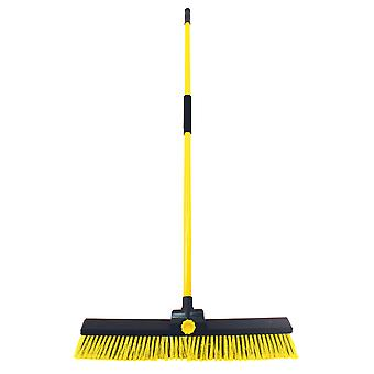 Charles Bentley giardino Bulldozer Yard Broom Sweeper pesanti industriali con maniglia