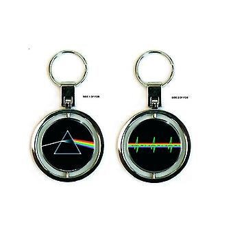 Pink Floyd Keyring Keychain Dark Side of the Moon new Official spin