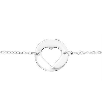 Coeur en ligne - 925 Sterling Silver Bracelets de chaîne - W20455X