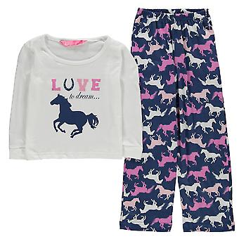 Dream Kids Girls Pyjama Infant Set Long Sleeve Crew Neck Cotton Print Straight