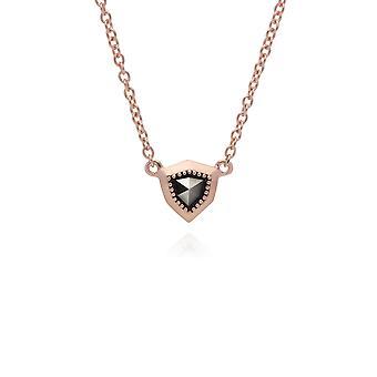 Gemondo Rose Gold Plated Sterling Silber Markasit Schild Design 42cm Halskette