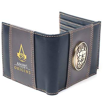 Assassins Creed Wallet Origins Metal Scarab Logo Official PS4 Xbox Zip Around