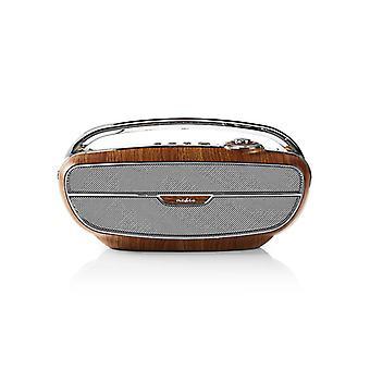 Nedis RDFM5300BN Fm-radio 60 W Bluetooth® Bruin / Zilver