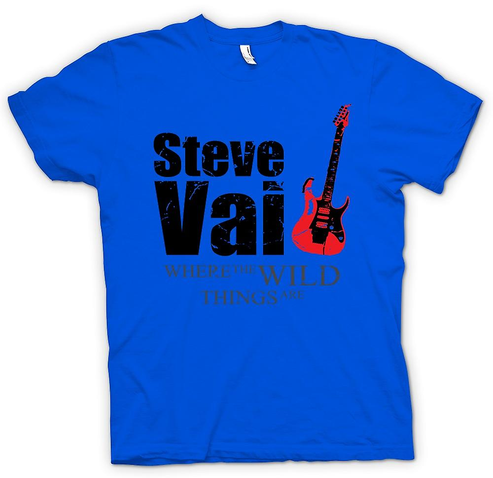 Herr T-shirt - Steve Vai Wild Things - gitarr Legend