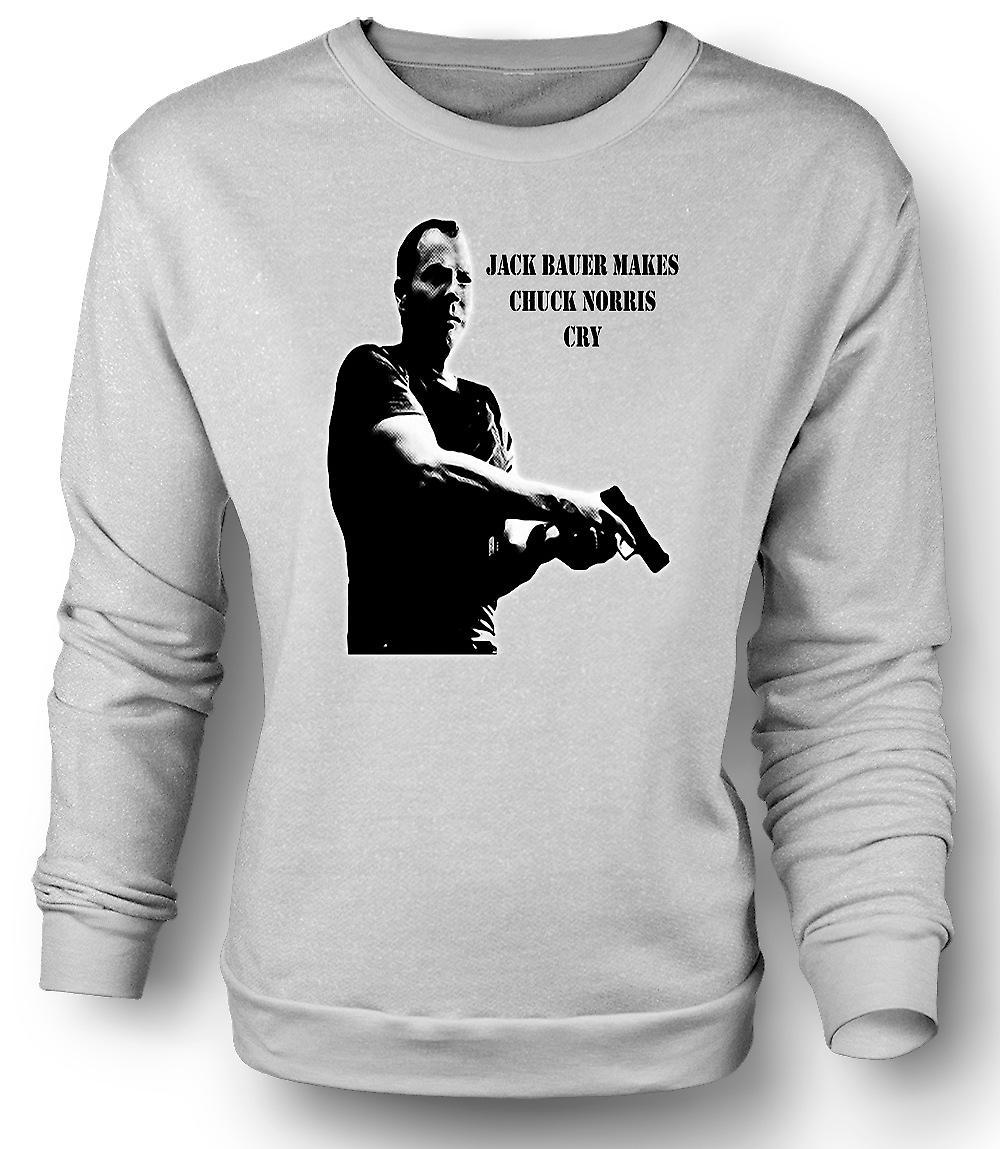 Mens Sweatshirt Jack Bauer - Chuck Norris - 24