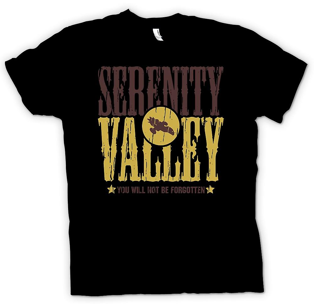 Womens T-shirt - Serenity Valley - You Will Not Be Forgotten