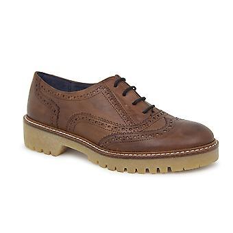 Liberitae Zapatos De Cordones Y Bluchers Kim En Piel Marrón 21703303-02