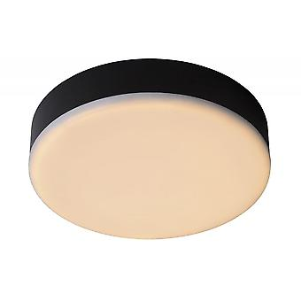 Lucide Ceres-LED Modern Round Aluminum Black And White Flush Ceiling Light