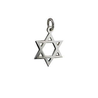 Silver 17x17mm plain Star of David Pendant