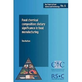 Food Chemical Composition: Dietary Significance in Food Manufacturing (Key topics in food science & technology)