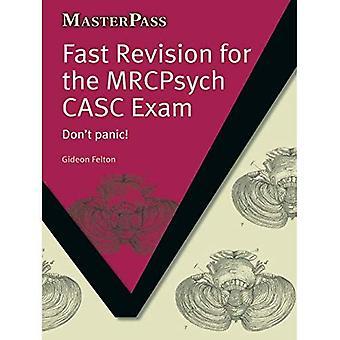 Rápida revisión para el examen de MRCPsych CASC: no entres en pánico!