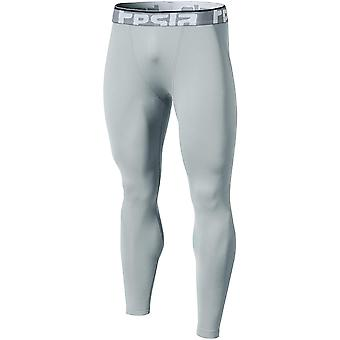 42c3b177b4adf TSLA Tesla YUP21 Thermal Winter Gear Compression Pants - Light Gray/Light  Gray