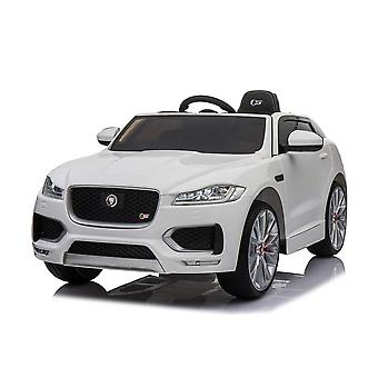Lizenzierte Jaguar F Tempo 12V Kinder Electric Ride On Auto White