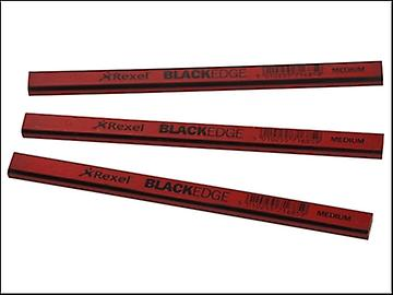 Blackedge Carpenters Pencils - Red / Medium Card of 12