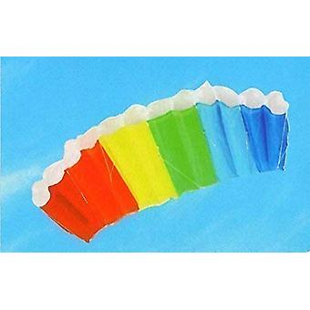 120cm Dual Line Multicoloured Frameless Parafoil Stunt Kite