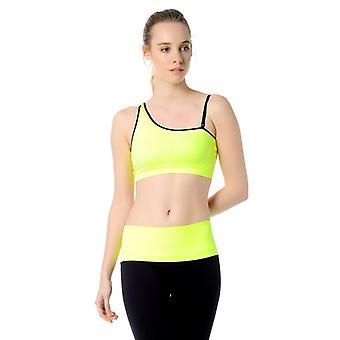 Jerf- Womens-bage - Yellow- Sport Bra