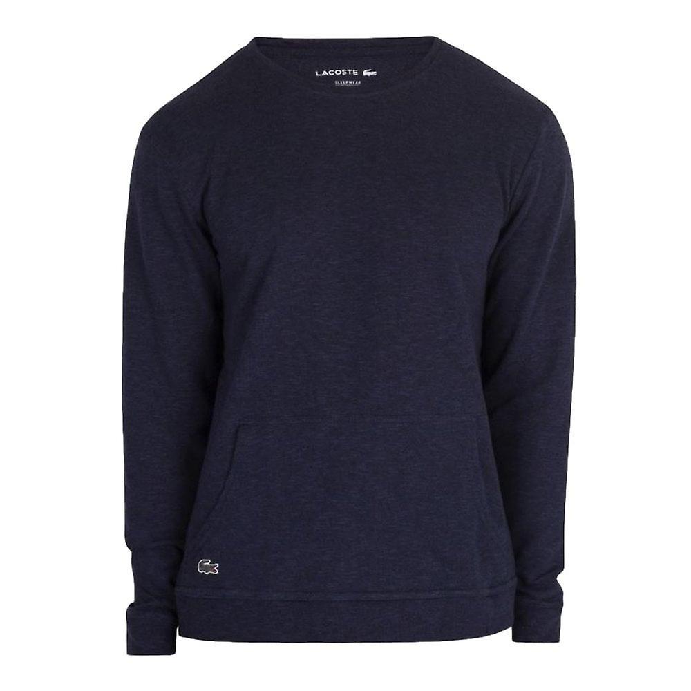 Lacoste Long Sleeve Sleepwear Top - bleu