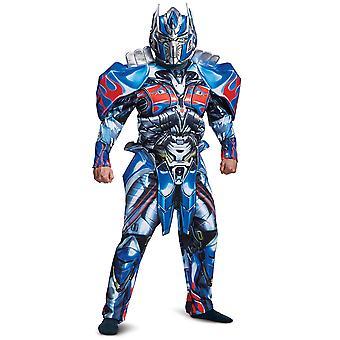 Optimus Prime Transformers Deluxe le dernier chevalier Superhero Mens Costume Plus
