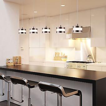 Nouveau plafond moderne lampe 5 pendentif couloir lumineux suspendu Led lumière rectangulaire couvert