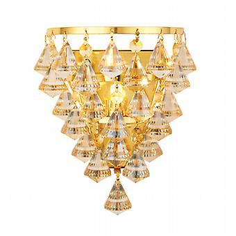 Endon 61246 Renner Champagne Crystal Glass and Gold Wall Light