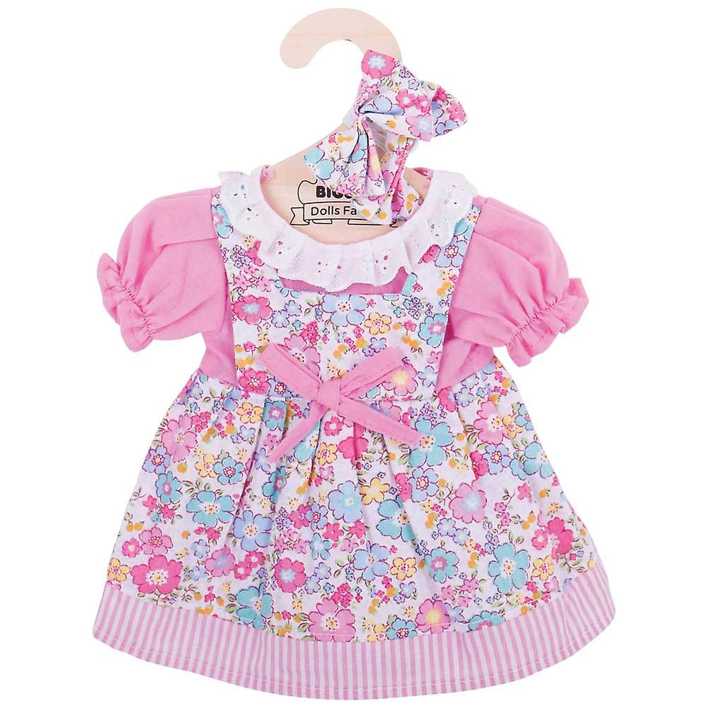 Bigjigs Toys Pink Floral Rag Doll Dress (38cm) Clothing Outfit Dress Up