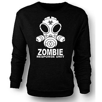 Womens Sweatshirt Zombie Response Unit - Gasmask