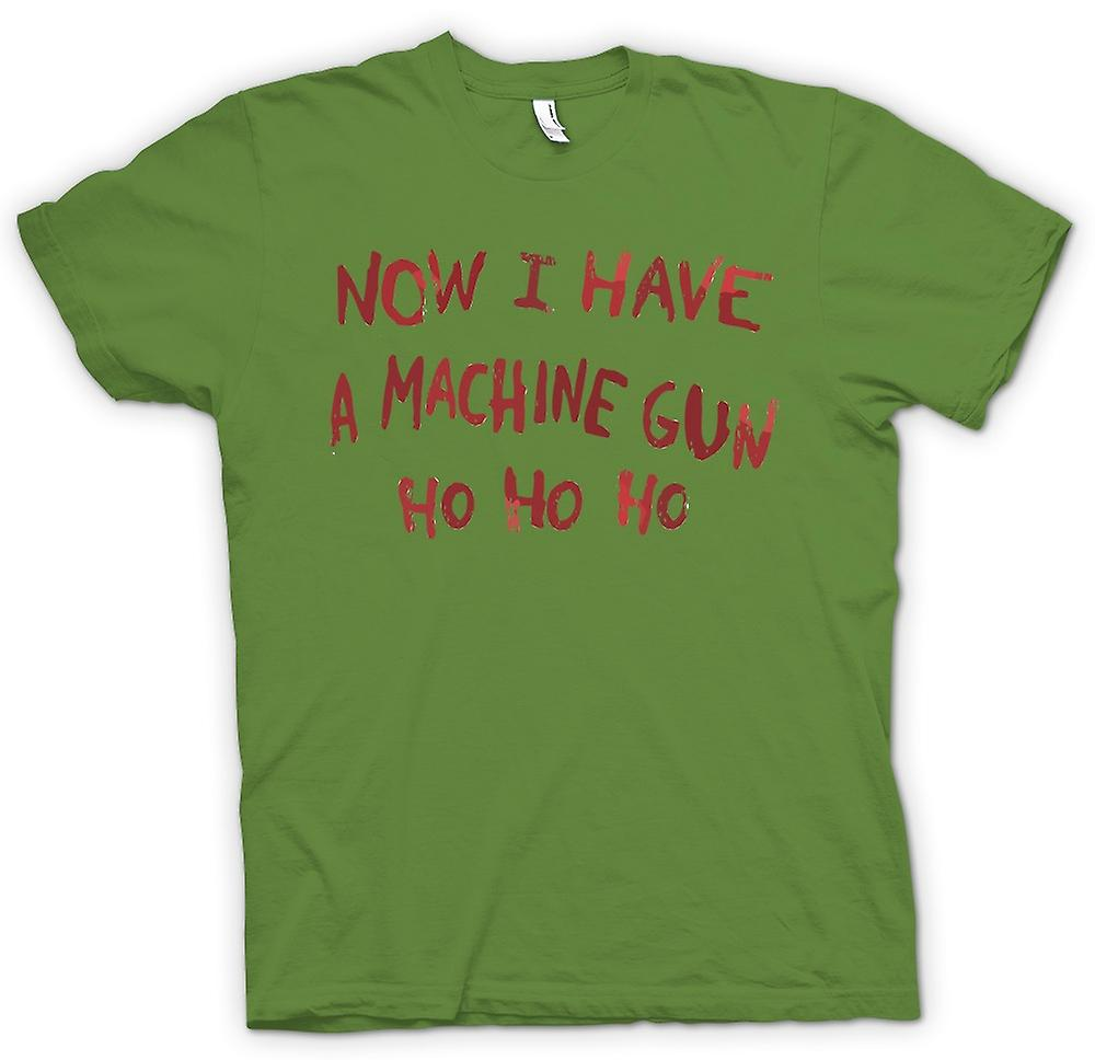 Mens T-shirt - Now I Have A Machine Gun Ho Ho Ho - Die Hard Inspired