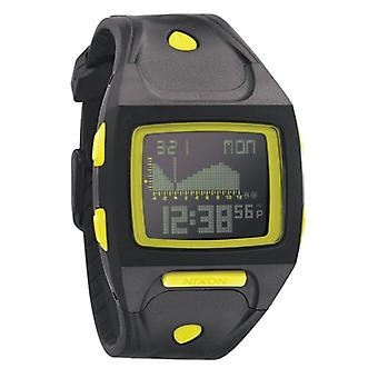 Nixon de kleine Lodown-All Black/Lime Digitaluhr (A498603)