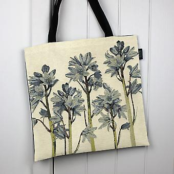 Mcalister textiles floral bluebell tapestry tote bag