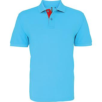 Asquith & Fox - Men's Classic Fit Contrast Polo Shirt