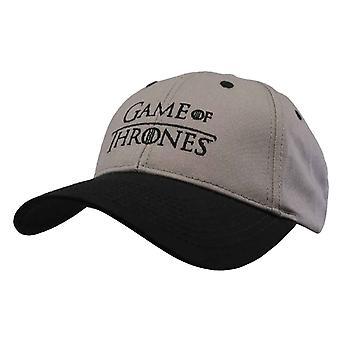 Game Of Thrones Baseball Cap Classic Logo nuovo Strapback grigio ufficiale