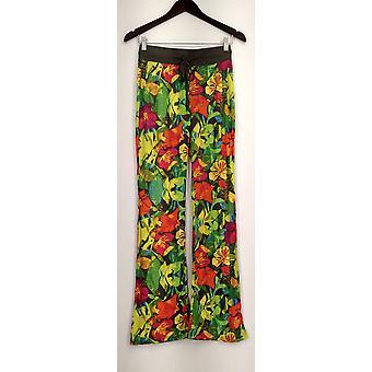 Xhilaration Lounge Pants Pull On Drawstring Floral Gray Womens