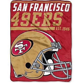 Northwest NFL San Francisco 49ers Mikro Plüschdecke 150x115c