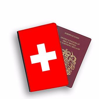 SWITZERLAND Flag Passport Holder Style Case Cover Protective Wallet Flags design