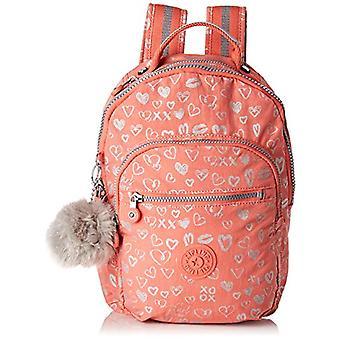 Kipling SEOUL GO S Children's backpack - 35 cm - 14 liters - Multicolor (Hearty Pink Met)