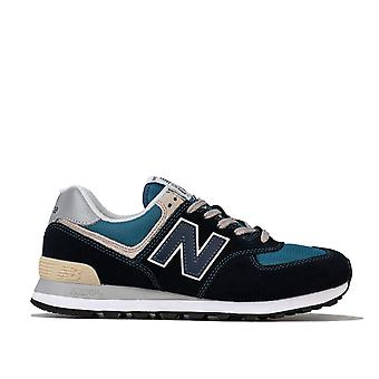 Mens New Balance Ml574 Trainers In Navy- Retro Styled Lightweight Trainer