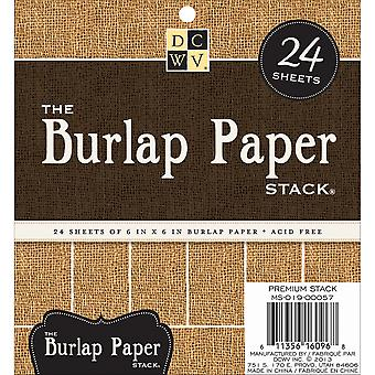 Burlap Covered Cardstock Paper Stack 6