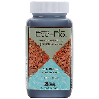 Eco Flo All In One Stain & Finish 4 Ounces Midnight Black 2605 01