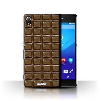 STUFF4 Case/Cover for Sony Xperia Z4/Blocks/Slab/Chocolate