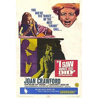 Ich sah, was du getan hast, Movie Poster (11 x 17)
