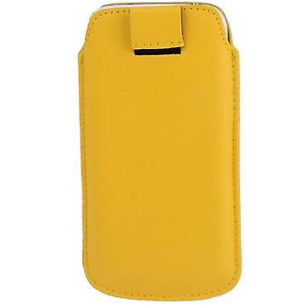 Mobile case bag slide cover yellow