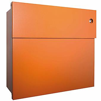Radius Briefkasten Letterman 4 orange mit LED-Klingel blau 560 A-KB