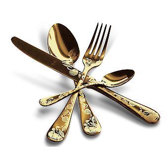 Ensemble de couverts de table MEPRA Venere Oro 4 pcs
