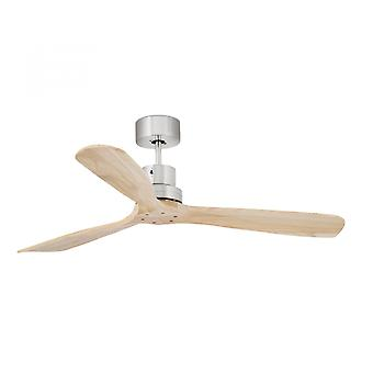 "Faro ceiling fan Lantau Nickel matt blades pine 132 cm / 52"" with remote control"