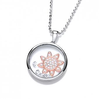Cavendish French Celestial Rose Gold Rising Sun Pendant