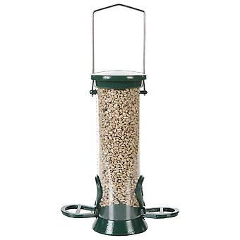Cj Defender Metal Seed Feeder Green 2 Port Small 20cm