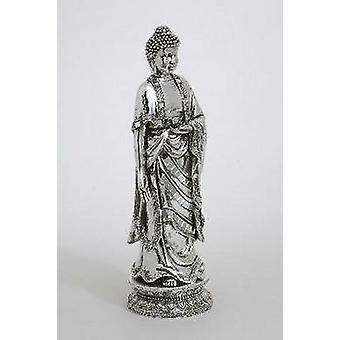 Estatua de Idea de regalo de estatuilla de Buda de pie de cromo